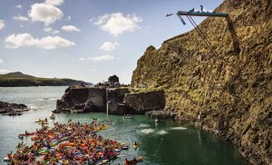 cliff-diving