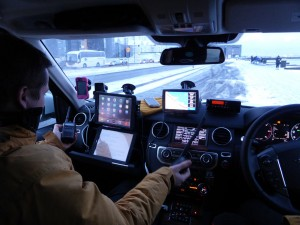 In vehicle comms gear
